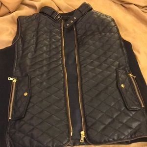 FATE Rowan Faux Leather Quilted Vest